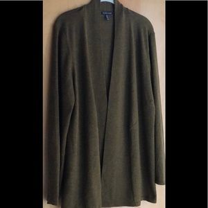 Eileen Fisher brown gold open cardigan size XL